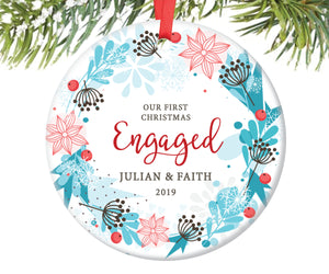 First Christmas Engaged Ornament, Personalized | 65