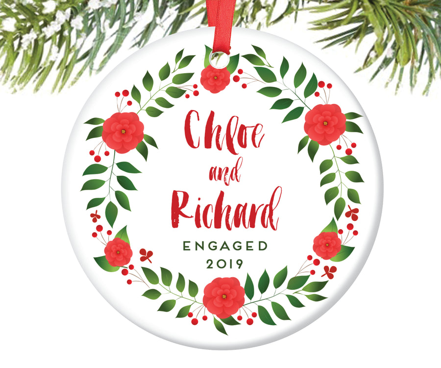 Engaged Christmas Ornament, Personalized | 72