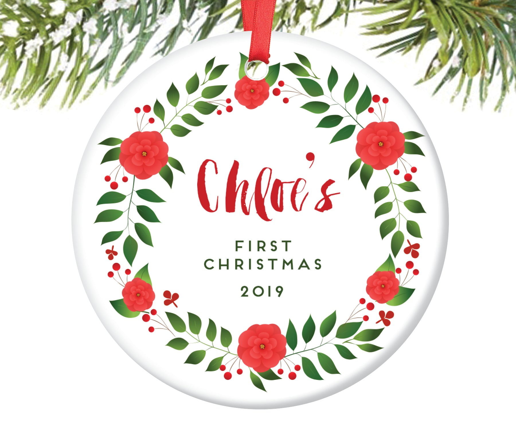 Baby's First Christmas Ornament, Personalized | 73