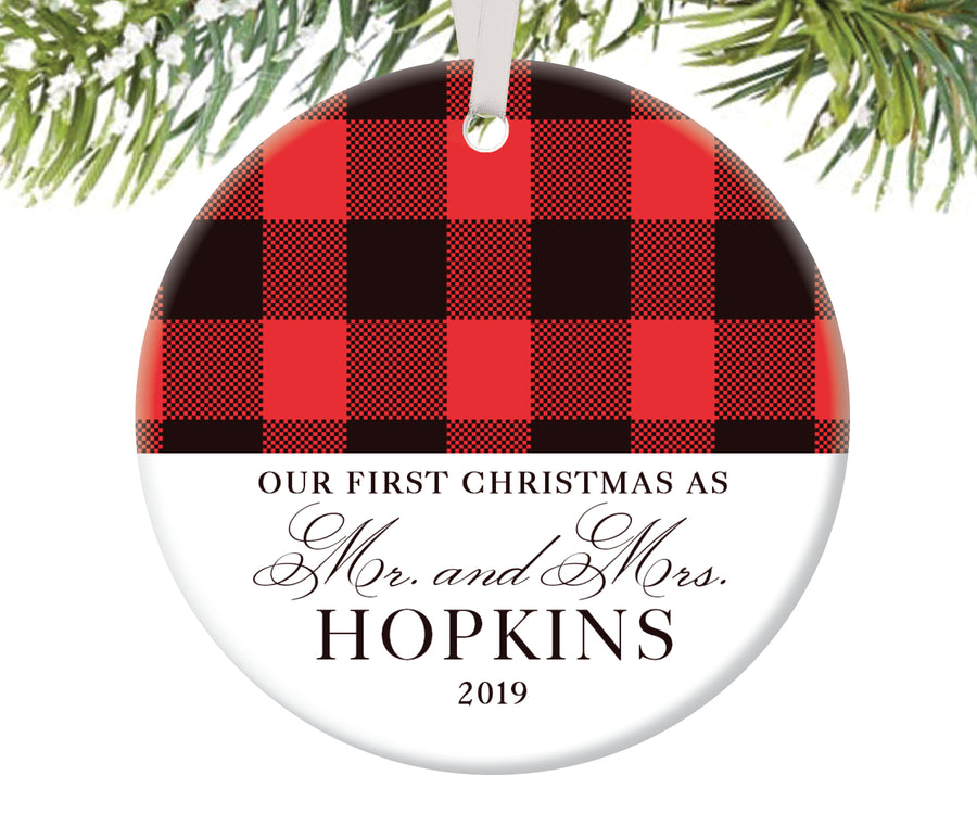 Christmas Ornament for Newlyweds, Personalized | 75