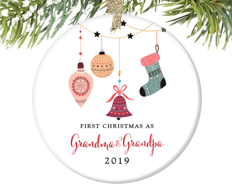 First Christmas as Grandma and Grandpa Ornament | 77