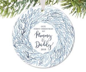 First Christmas as Mommy and Daddy Christmas Ornament | 78