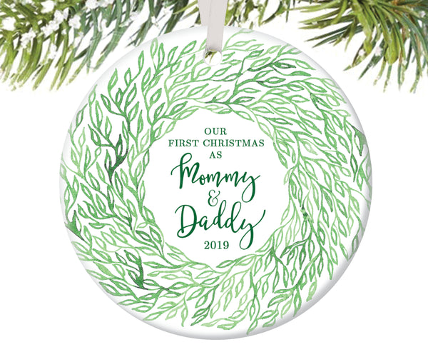 First Christmas as Mommy and Daddy Christmas Ornament | 79