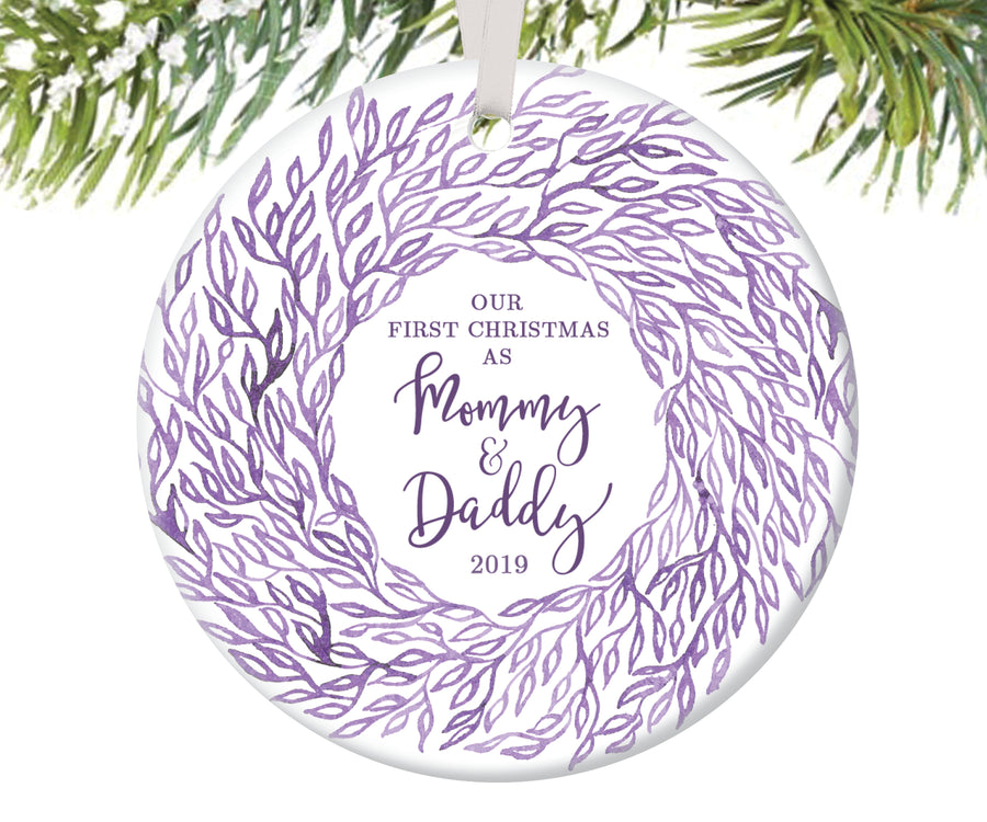 First Christmas as Mommy and Daddy Christmas Ornament | 80