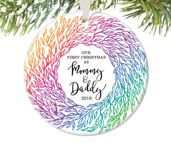 First Christmas as Mommy and Daddy Christmas Ornament | 81