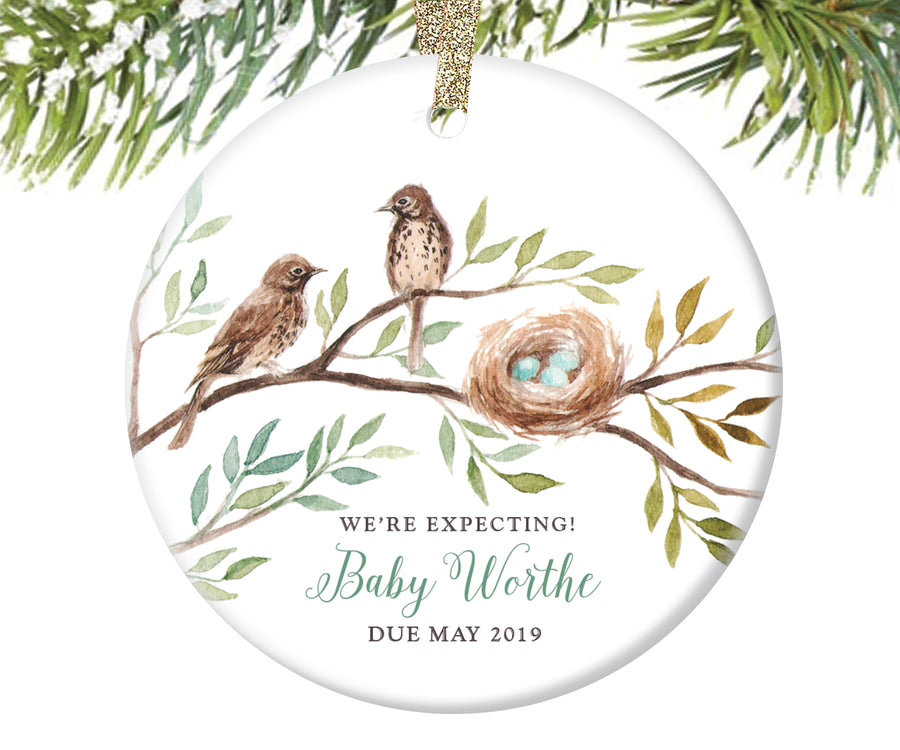 Expecting Parents Christmas Ornament, Personalized | 83