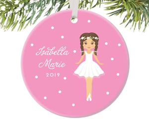 Ballerina Christmas Ornament, Personalized | 88