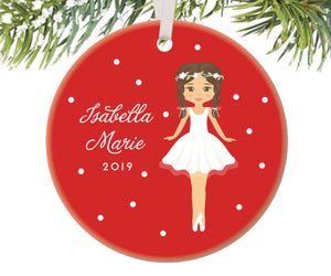 Ballerina Christmas Ornament, Personalized | 89