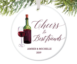 Best Friends Christmas Ornament, Personalized | 91