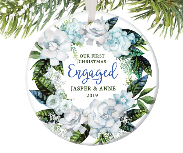 First Christmas Engaged Ornament, Personalized | 97