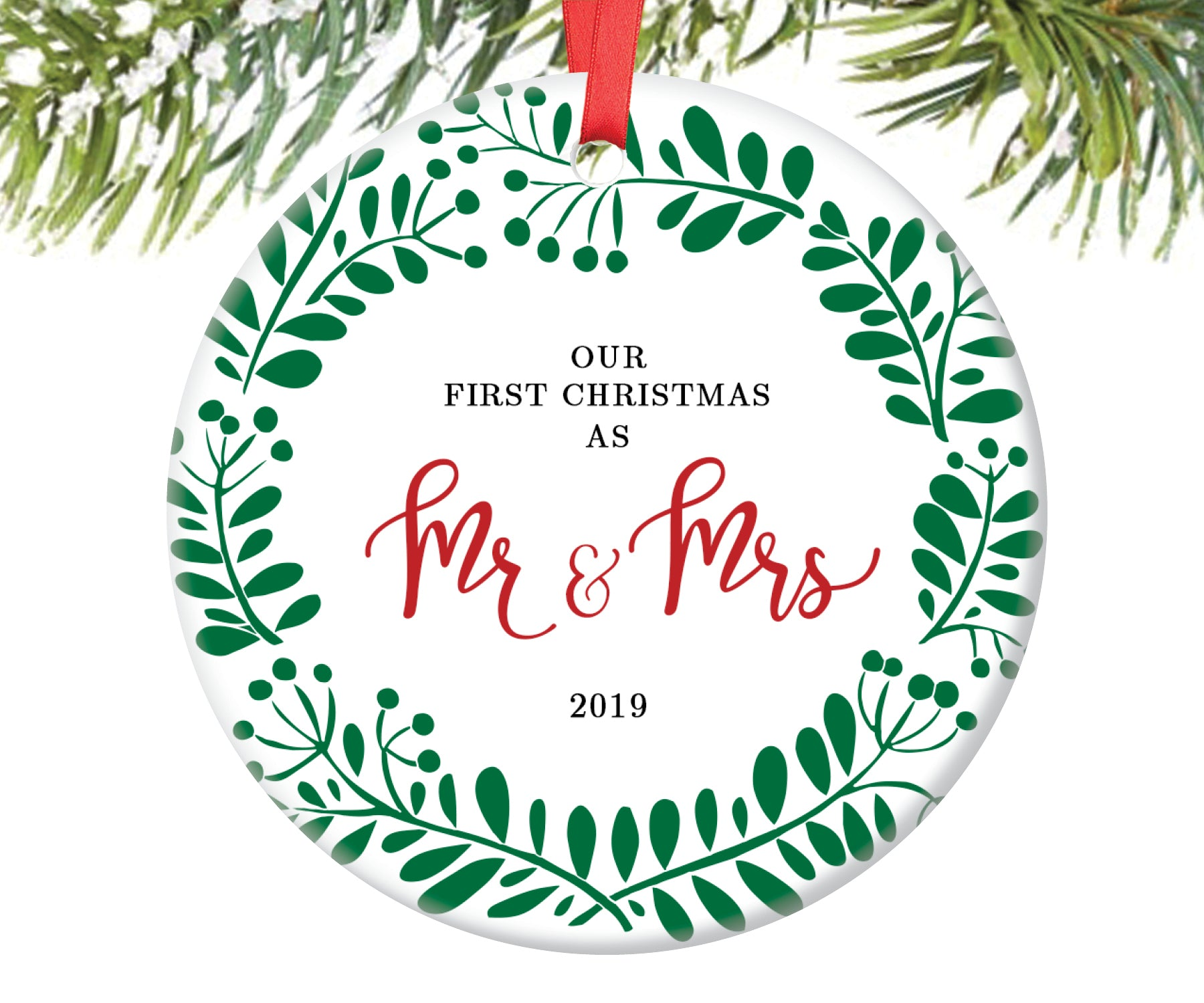 First Christmas as Mr and Mrs Ornament | 102