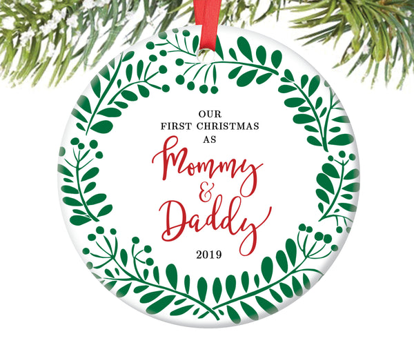 First Christmas as Mommy and Daddy Christmas Ornament | 103