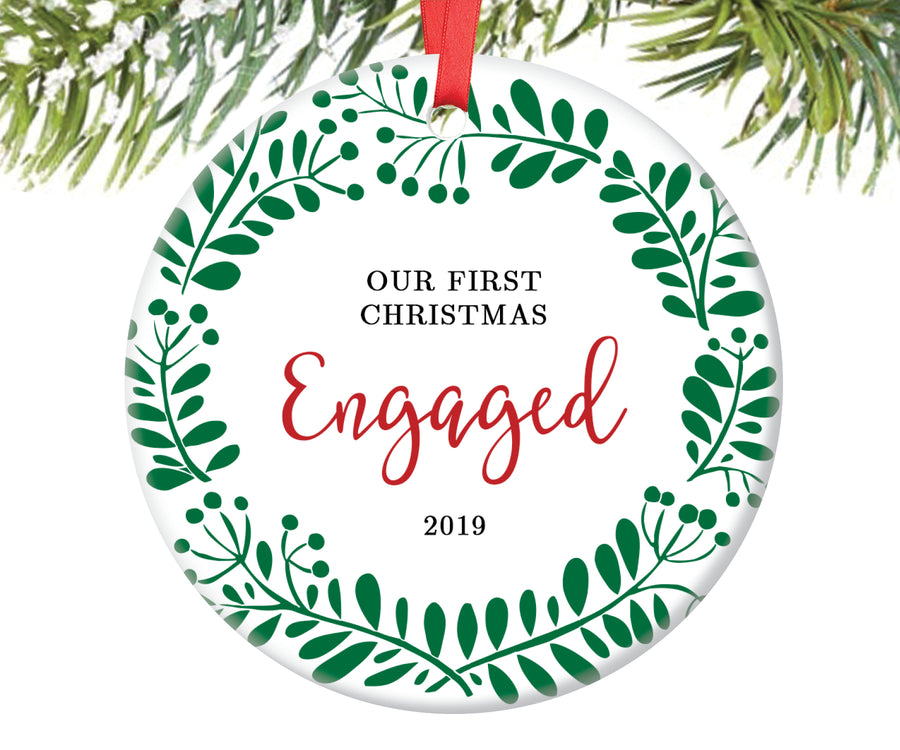 First Christmas Engaged Ornament | 104