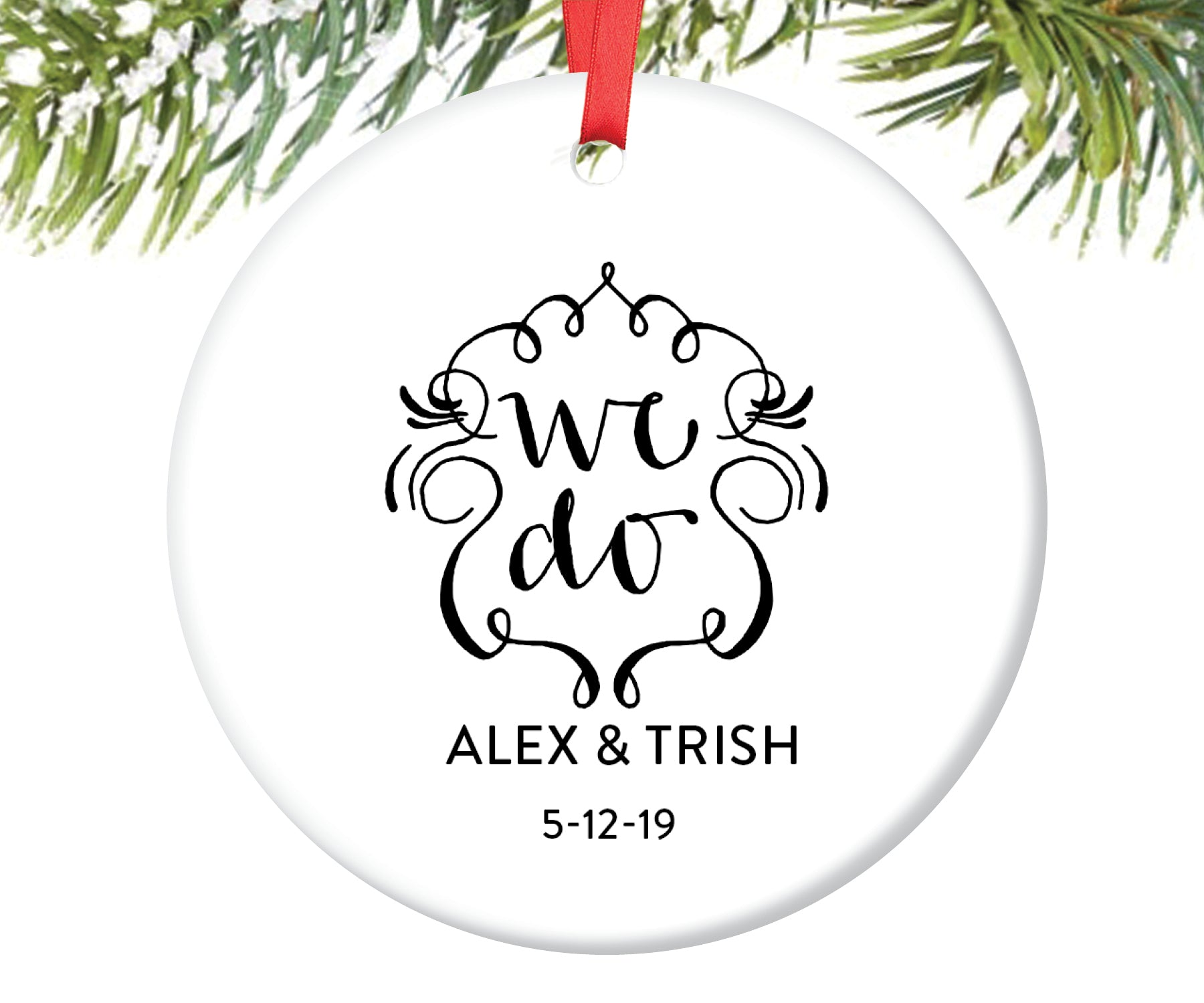 Newlyweds Christmas Ornament