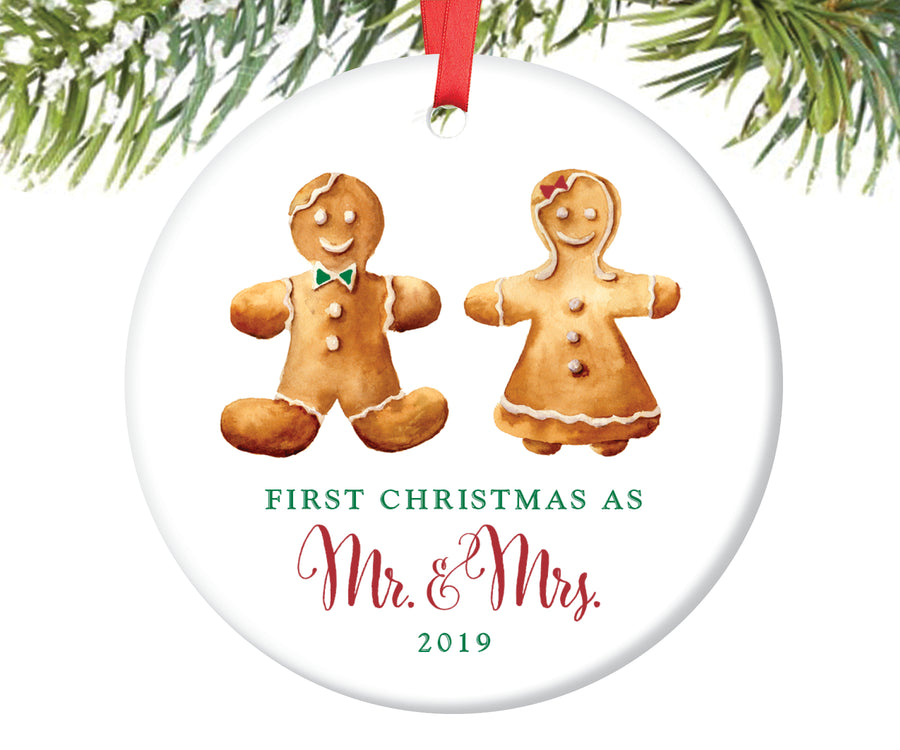 Newlyweds Gingerbread Couple Christmas Ornament | 109