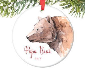 Papa Bear Christmas Ornament | 111