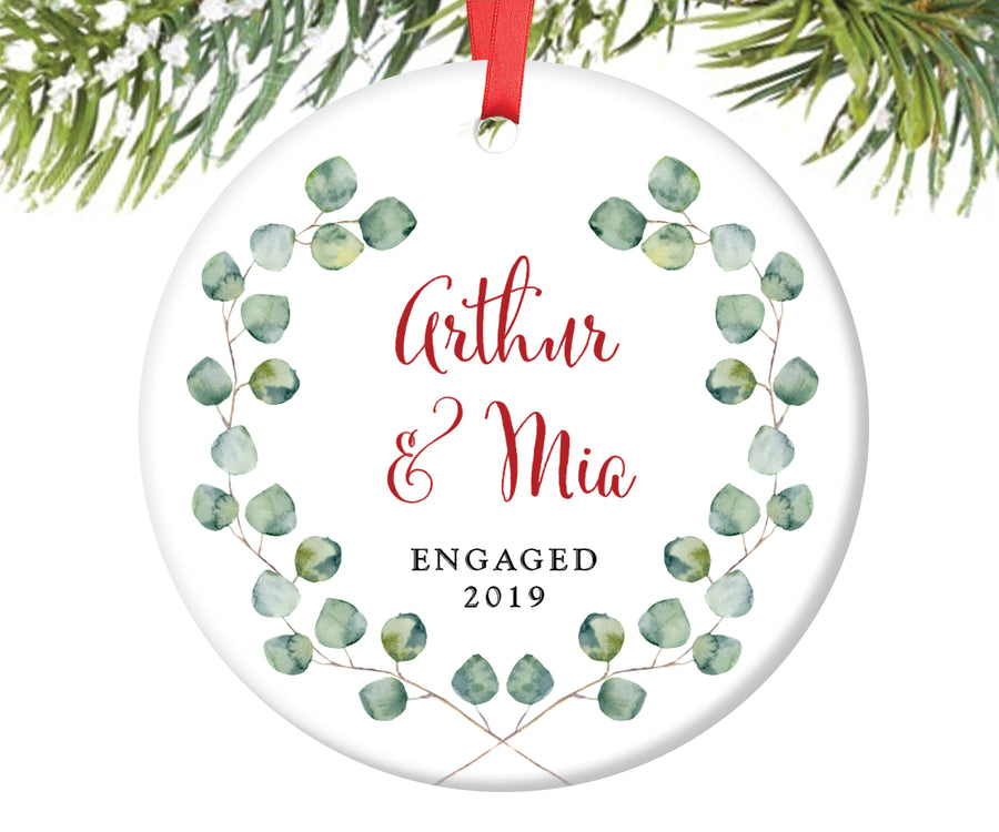 Newly Engaged Christmas Ornament, Personalized | 118