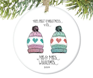 Our First Christmas Married Ornament, Personalized | 122
