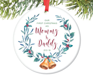 First Christmas as Mommy and Daddy Christmas Ornament | 128