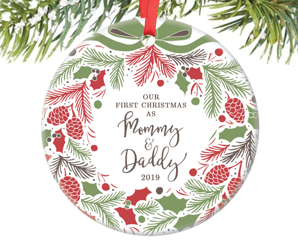 Our First Christmas as Mommy and Daddy Christmas Ornament | 134