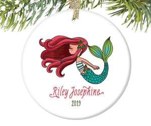 Mermaid Christmas Ornament, Personalized | 135