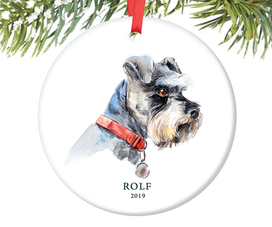 Schnauzer Christmas Ornament, Personalized | 136