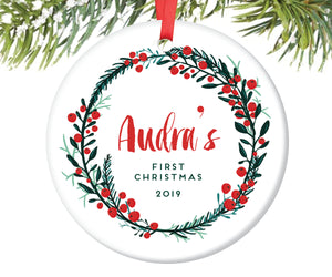 Baby's First Christmas Ornament, Personalized | 139