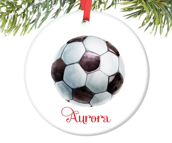 Soccer Ball Christmas Ornament, Personalized | 141