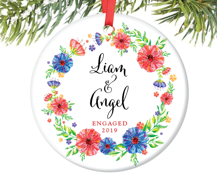 Engaged Christmas Ornament, Personalized | 150