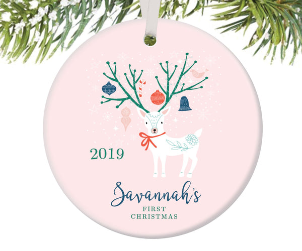 Baby Girl's First Christmas Ornament
