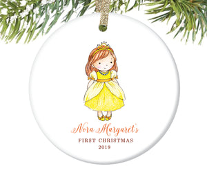 Baby's First Christmas Princess Ornament, Personalized | 156