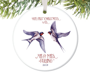 First Christmas as Mr and Mrs Ornament, Personalized | 158