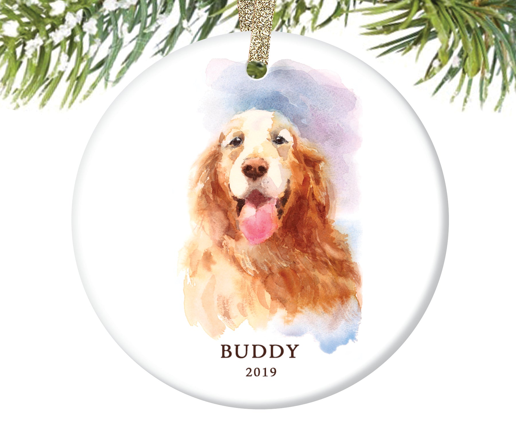 Retriever Christmas Ornament, Personalized | 171