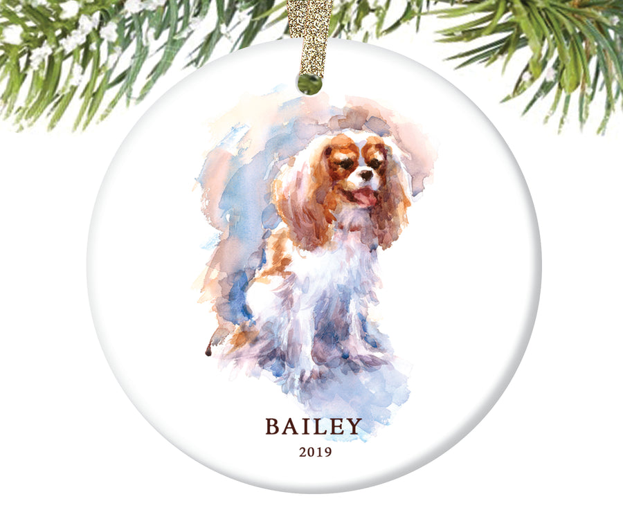 Spaniel Christmas Ornament, Personalized | 172