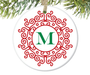Monogrammed Christmas Ornament, Personalized | 179