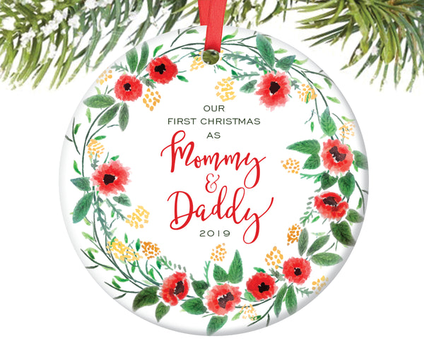 First Christmas as Mommy and Daddy Christmas Ornament | 186