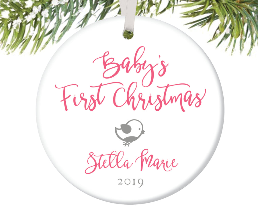 Baby's First Christmas Ornament, Personalized | 197