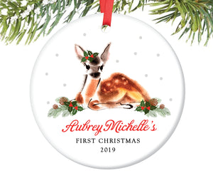 Baby's First Christmas Ornament, Personalized | 202