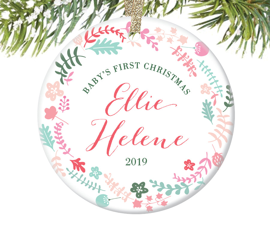 Baby's First Christmas Ornament, Personalized | 210