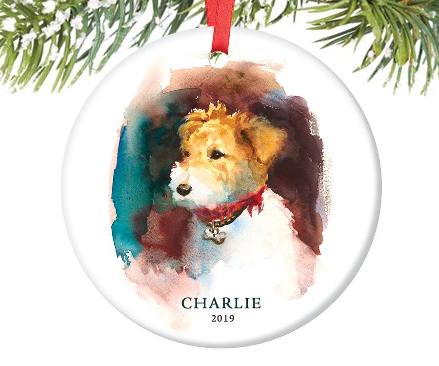 Fox Terrier Christmas Ornament, Personalized | 215