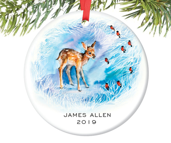 Baby Deer Christmas Ornament