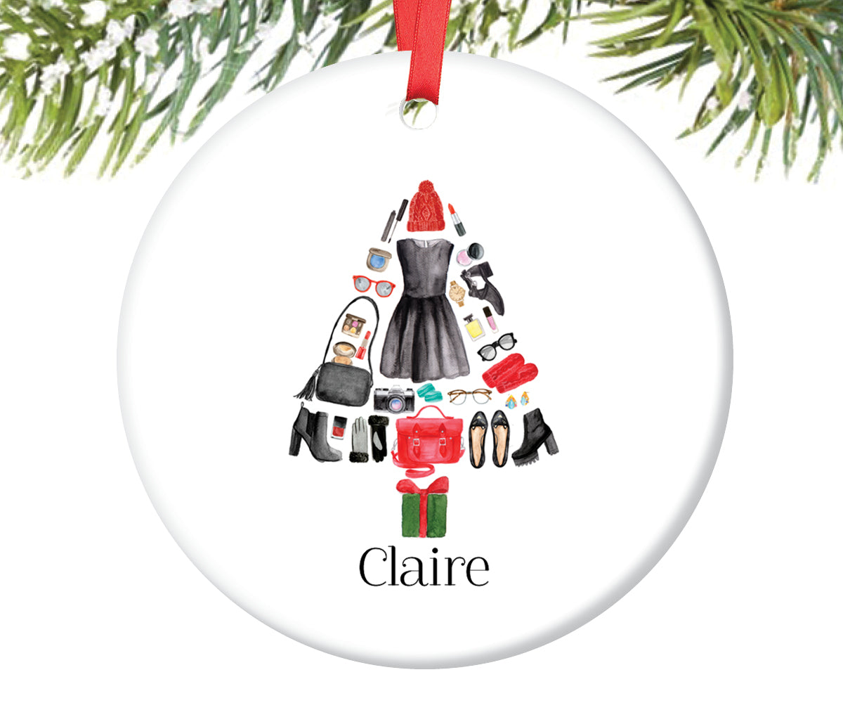 Fashion Christmas Tree Ornament for Girls