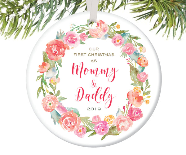 First Christmas as Mommy and Daddy Christmas Ornament | 236