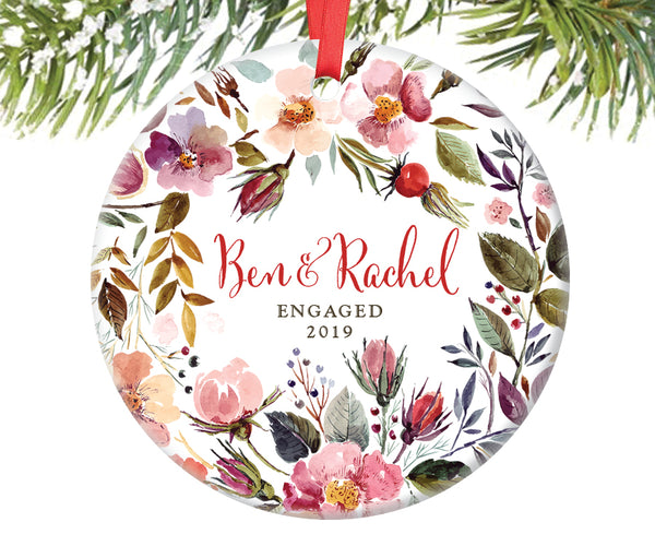 Engaged Christmas Ornament, Personalized | 240
