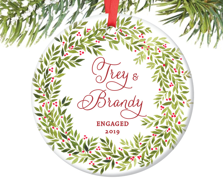 Engaged Christmas Ornament, Personalized | 247