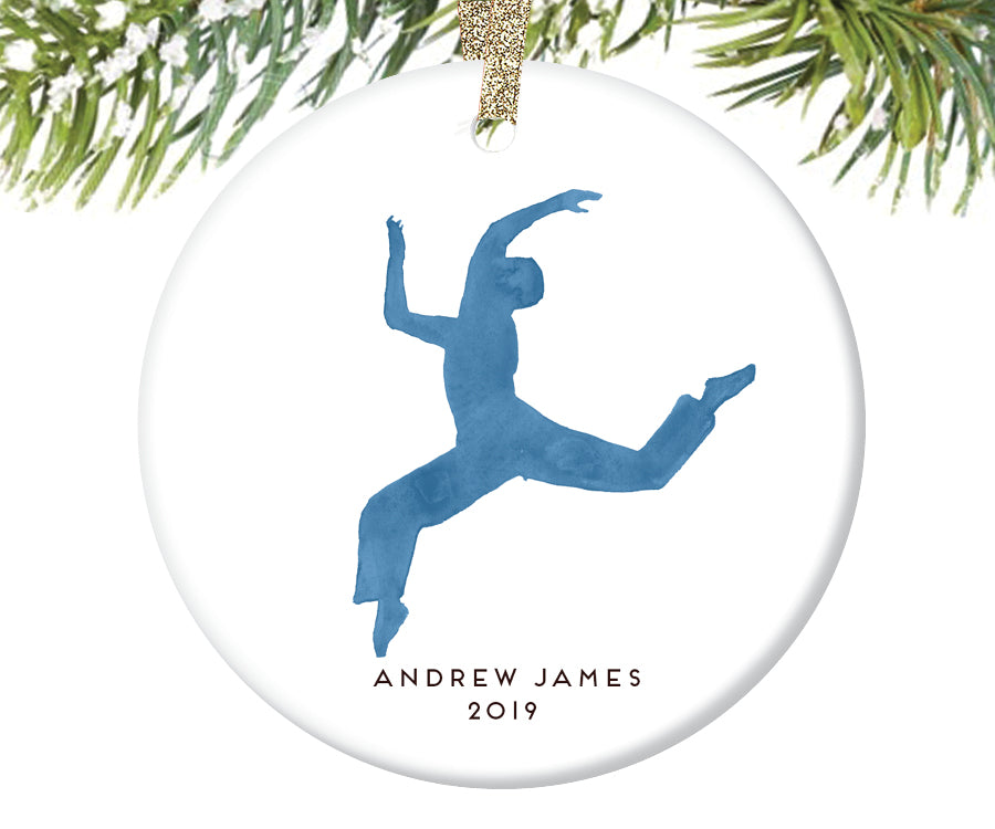 Boy Dancer Christmas Ornament for Boys, Personalized | 250