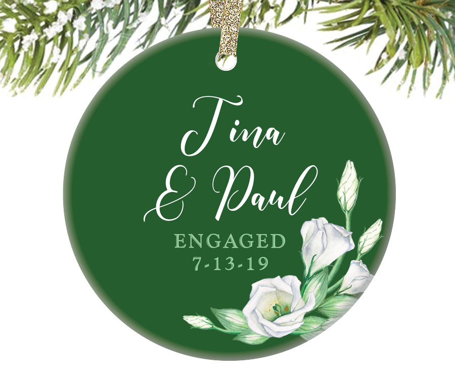 First Christmas Engaged Ornament, Personalized | 266