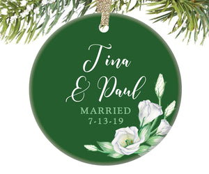 Married Couple Christmas Ornament, Personalized | 267