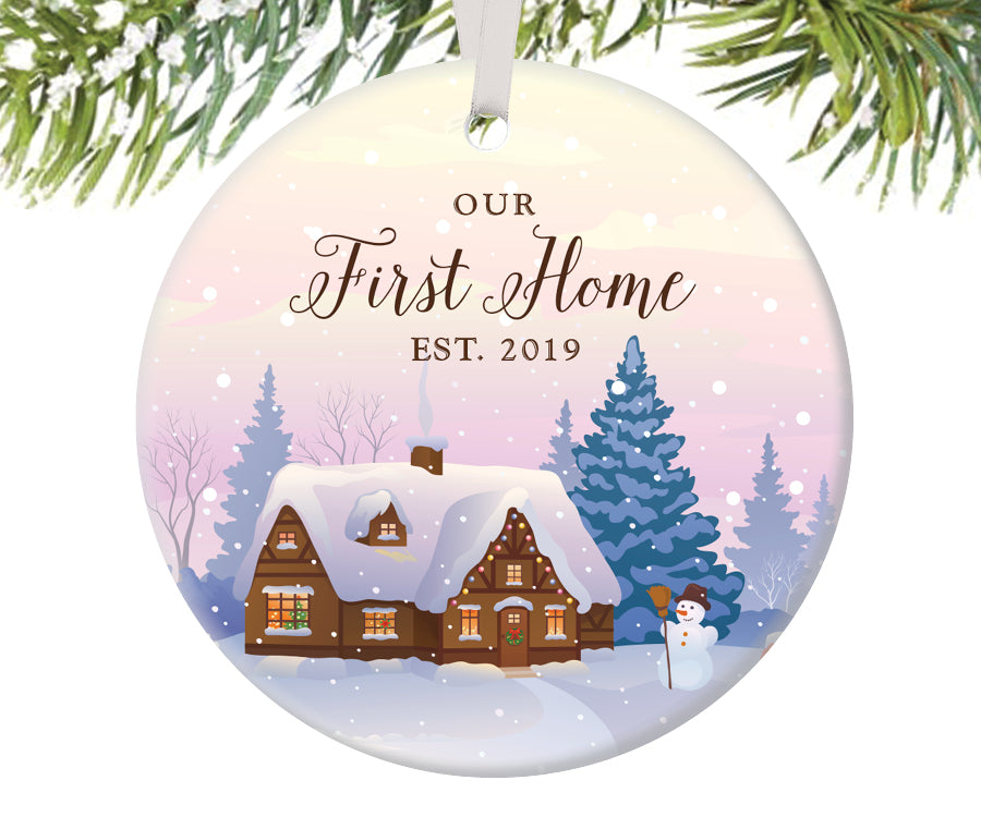 Our First Home Christmas Ornament.Our First Home Christmas Ornament Personalized 299