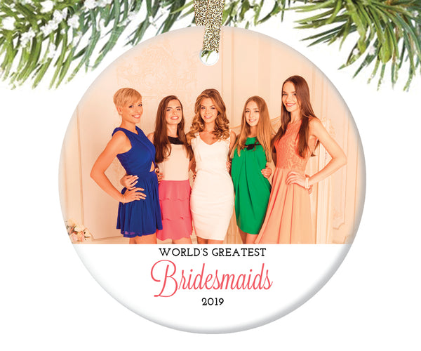 Bridesmaid Photo Ornament, Personalized | 303